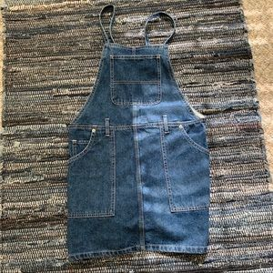 F21 Denim overall dress